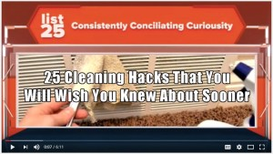 Top 25 Cleaning Hacks