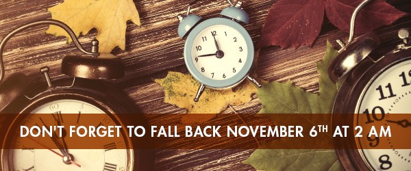 Daylight Savings Time Fall 2016