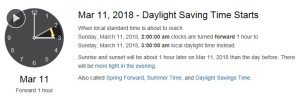 DST March 11 2018